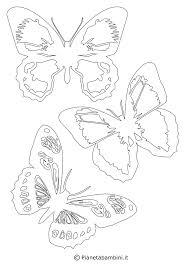 Sagome Di Farfalle Da Colorare E Ritagliare Per Bambini Con Stencil