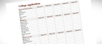 College Comparison Worksheet Template College Comparison Template For Excel