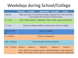 Daily Time Table Best Time Table For School College Students Chetchat