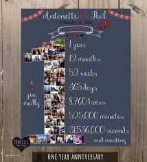 royal 1 year anniversary gift ideas for him with 1st anniversary anniversary collage anniversary gift for