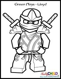 Small Picture Ninjago Lloyd ZX Lego Ninjago Coloring Pages