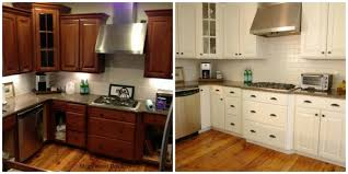 painting oak kitchen cabinets before and after photos regard to home kitchen