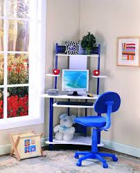 desk chairs blue fabric upholstered swivel chair mixed white corner computer desk comfortable chairs kids