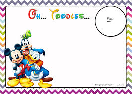 FREE Mickey Mouse Birthday Invitations ...
