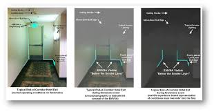 uniquely delivers light signals below the smoke layer to occupants providing floor level identification of the egress path and or termination of the exit