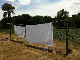 How To Make A Clothesline New How To Make A Clothesline Been Needing One For A Couple Years Now