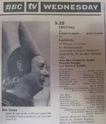 greek plays lysistrata bbc screen plays radio times 9 1964 p 41