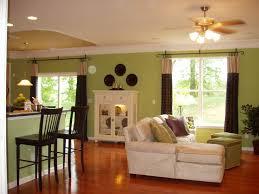 green walls eclectic living room
