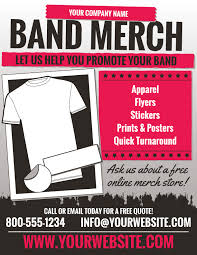 flyer companies band merch marketing flyers for screen printers