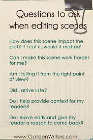 17 best ideas about script writing creative writing questions to ask when editing scenes
