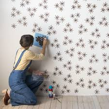 DIY Starbust 'Wallpaper' from Stamp Stencil Paint Design*Sponge