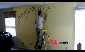 time lapse of me painting a family tree you