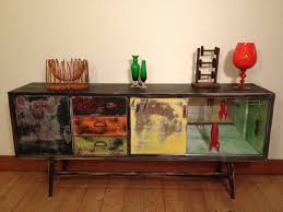 steampunk furniture. old retro veneer sideboard that we repaired stripped and revamped in our funky industrial up cycled furnituresteampunk steampunk furniture w