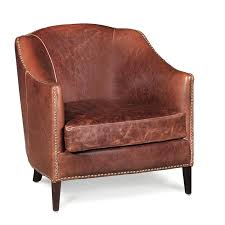 saddle brown leather chair madison