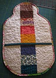 Stipple quilted hot water bottle cover tutorial | Stippling, Water ... & Quilted hot water bottle cozy Adamdwight.com