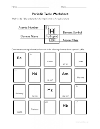 Periodic Table Worksheets | College Finals | Pinterest | Periodic ...
