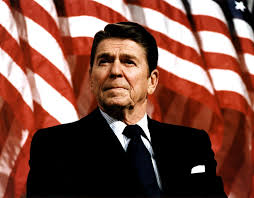 Image result for combined caricature of Reagan and Steve Jobs
