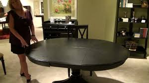 Camden RoundOval Pedestal Dining Table By American Drew Black Or - Black oval dining room table