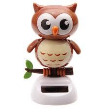 puckator ff43 solar powered owl ornament 6 x 6 x 10cm