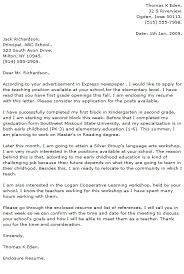 Education Cover Letters Teaching Cover Letter Music Teacher Cover Letter Sample Teaching 60