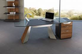 glass desk for office. Office Desk:Office Desk Furniture Glass Executive Table Design Modern Minimalist For