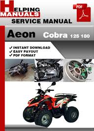 aeon atv wiring schematics aeon auto wiring diagram schematic aeon cobra 125 180 service repair manual manual on aeon atv wiring schematics
