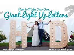 how to make your own giant light up letters
