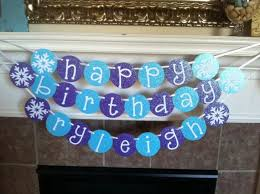 custom happy birthday banner frozen inspired personalized happy birthday banner with glitter on