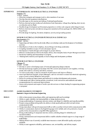 Electrical Engineering Sample Resumes Senior Electrical Engineer Resume Samples Velvet Jobs