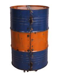 Barschrank Metall Orange Blau 60 X 60 X 95 Cm