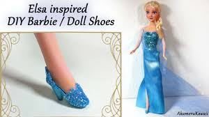 how to barbiedoll shoes elsa inspired frozen tutorial youtube barbie doll
