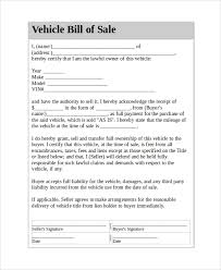 how to make bill of sale sample vehicle bill of sale 7 documents in pdf word
