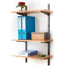 office wall mounted shelving kits in