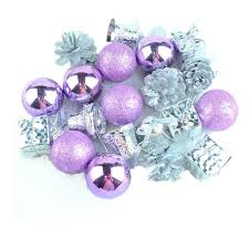 Purple Balls For Decoration Best 32 PCS 32 Kinds Christmas Decorations Light Purple And Silver Tree