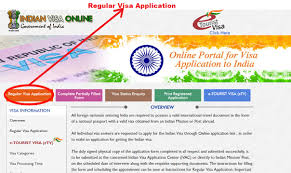n visa visa application visa for from usa after being redirected to the government website you must select regular visa application to continue your online visa application process