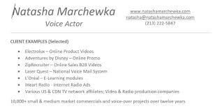 Create A Simple Resumes How To Create A Simple Competitive Voice Actors Resume