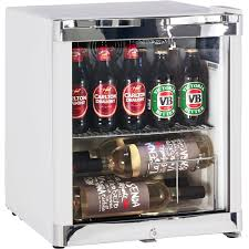 Glass door compact tropical bar fridge with lock wine shelf available on  request stokkelandfo Images