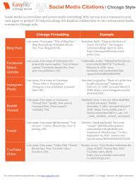 Social Media Citations Chicago Easybib Blog