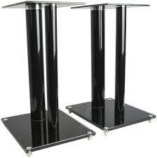 speakers and stands. vivo premium universal floor speaker stands dual pillar for surround sound \u0026 book shelf speakers and