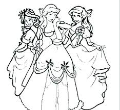 Coloring Pages Of Princesses Little Princess Coloring Pages A Little