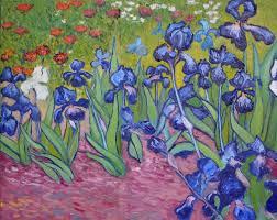 saatchi art artist elena lukina painting inspired by vincent van gogh irises