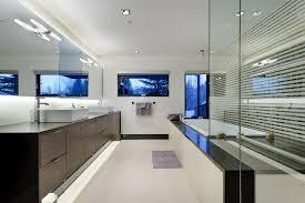 Modern Master Bathroom with Drop-In Bathtub, European Cabinets, Contempra  Horizontal Cabinet Door