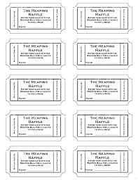 Print Raffle Tickets Template Voipersracing Co