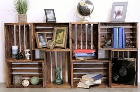Image result for wooden crates holding books