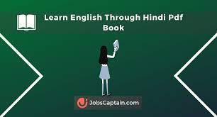 learn english through hindi pdf book