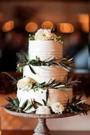 11 Rustic Wedding Cakes With Greenery Photo Forest Wedding Cake