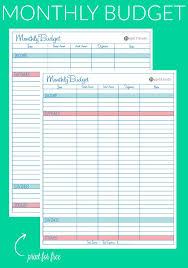 budget spreadsheet printable simple printable monthly budget worksheet download them or print