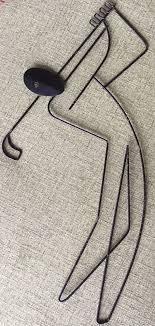 original vtg 50s weinberg wire golfer