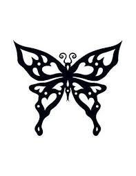 Motýl Svítící Ve Tmě Tribal Nalepovací Tetování