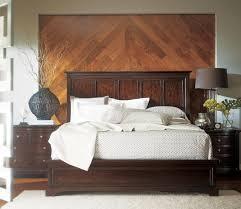 Furniture Transitional Portfolio Panel Bedroom Set in Polished Sable